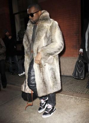 kanye west fur coat for men