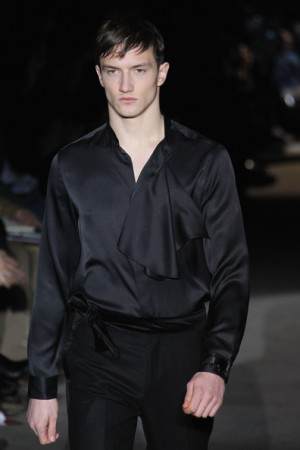 designer shirt for men - black shirt and black trousers