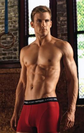 jockey male underwear model red boxer shorts underwear