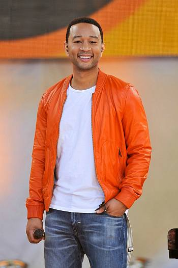 cool orange look - john legend orange jacket