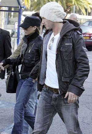 celebrities wearing superdry leather jacket david beckham