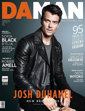 celebrity leather jacket - josh duhamel burberry brit
