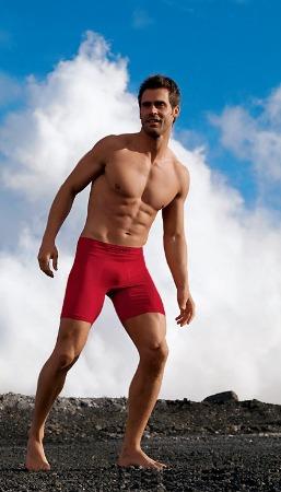 chad pinther jockey male underwear model red underwear for men