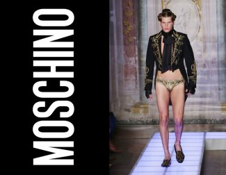 gold underwear for men - moschino - 2015 runway