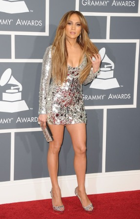 jennifer lopez dress - short and metalic