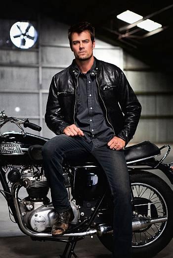 josh duhamel leather jacket