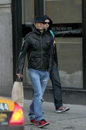 celebrity leather jacket brands - josh duhamel superdry