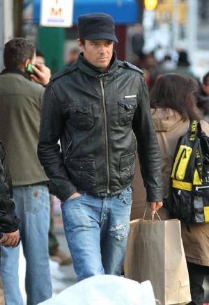 josh duhamel leather jacket - brad superdry