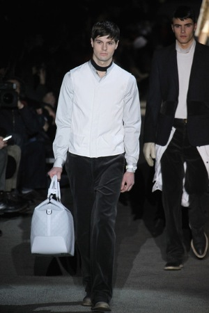 white designer coat for men by louis vuitton