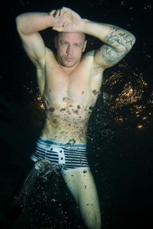 the navy diver underwear model paul de gelder