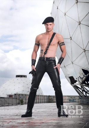 rob berlin leather pants