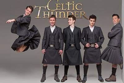 celtic thunder members wearing kilt
