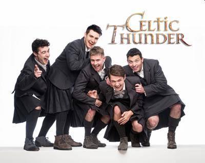 celtic thunder wearing kilts - fabulous