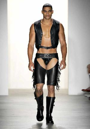 designer leather underwear - jeremy scott