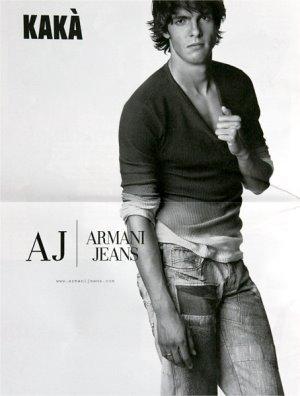 armani jeans for men celebrity spokesmodel kaka