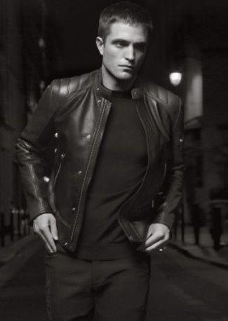 celebrities wearing dior homme leather jackets - robert pattinson