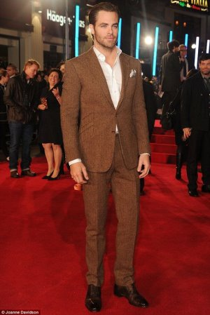 tweed suits for men ralph lauren two piece suit on chris pine