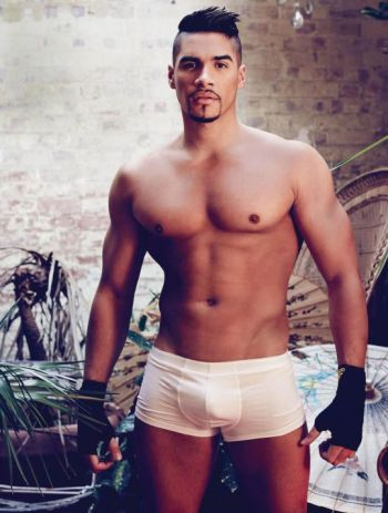 hot male gymnast underwear - louis smith white boxer briefs