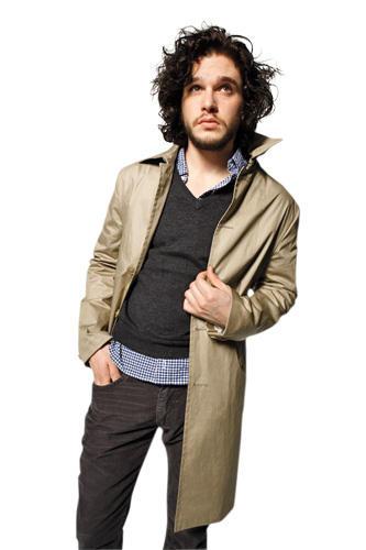 Kit Harington style - John Varvatos trench coat