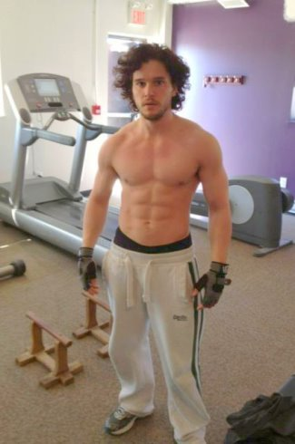 kit harington shirtless washboard abs