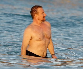 bono then and now shirtless