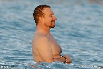 bono shirtless now and then