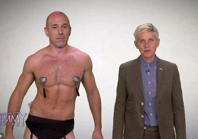 matt lauer shirtless in underwear