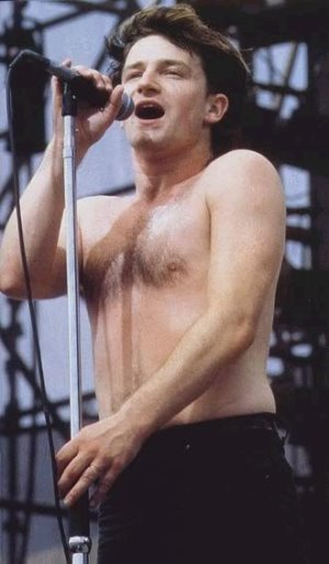 young bono shirtless