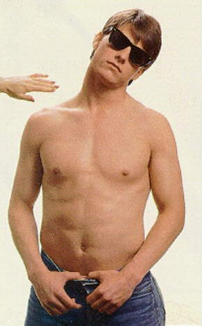 young tom cruise shirtless