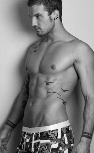 mens batman underwear - male model