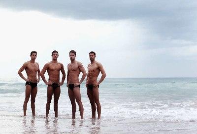 beach speedo hunks Australian Olympic Swimmers in manly beach