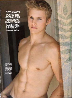 alexander ludwig shirtless washboard abs