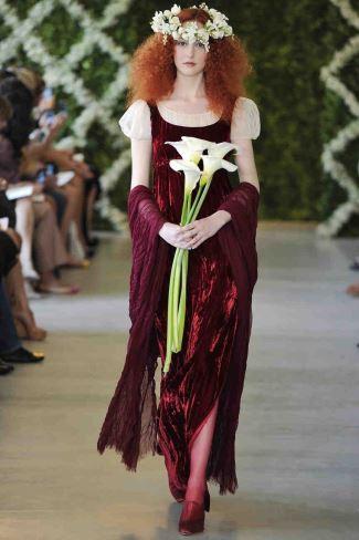 red wedding dresses - oscar de la renta