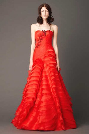 beautiful red wedding dresses