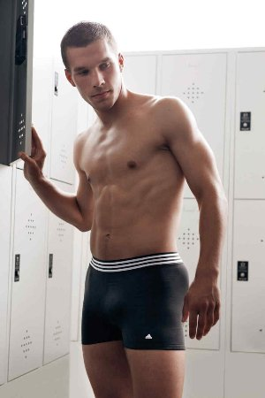 lucas podolski - football player in underwear by adidas
