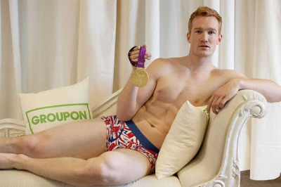 Greg Rutherford Underwear - English Olymppian in Boxers