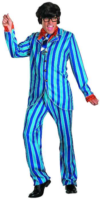 pinstripe suits in or out - austin powers suit
