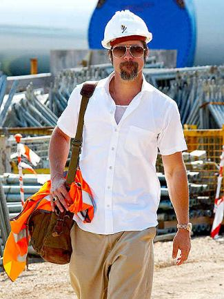 celebrity construction workers brad pitt