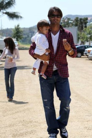 david charvet as a father - with shaya charvet