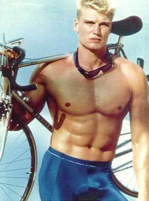 dolph lundgren tight cycling shorts