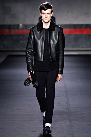 acne winter leather jackets for men