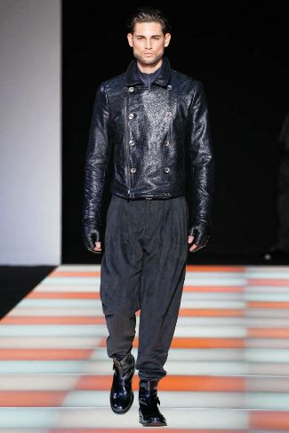 armani mens leather jackets