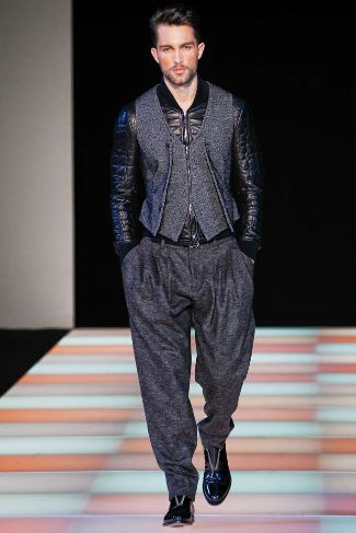 armani mens leather jackets fall winter