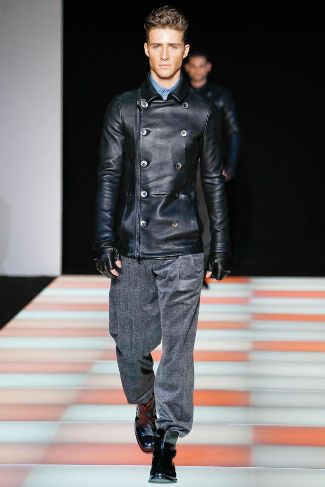 armani mens leather jackets for winter