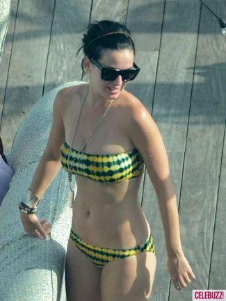 celebrities in two-piece bikini