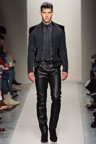 winter leather pants for men bottega