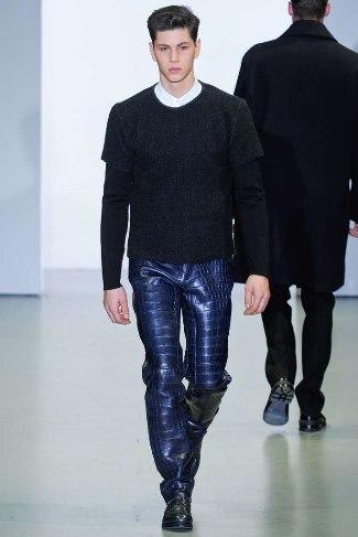 best designer leather pants for men calvin klein