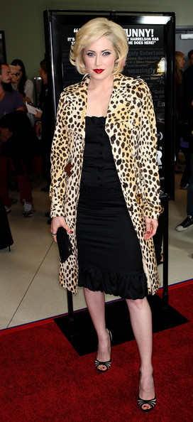 leopard print coat - YSL Trench - on Charlotte Sullivan