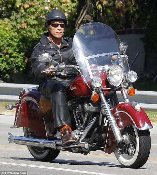 old men leather pants and jacket arnold schwarzenegger