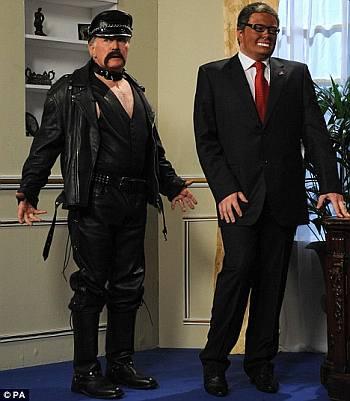 old men wearing leather pants - martin sheen